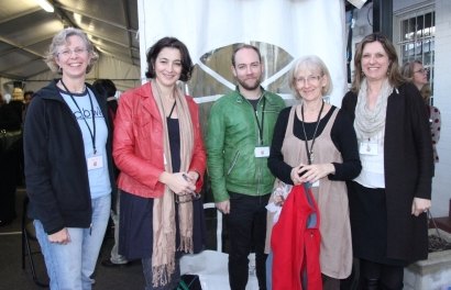 Nathan and the rest of the Roving Reporters at the SCBWI Conference 2012