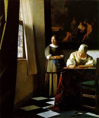 Vermeer's writer