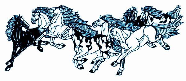 chinese-paper-cutting-arts-running-horses2
